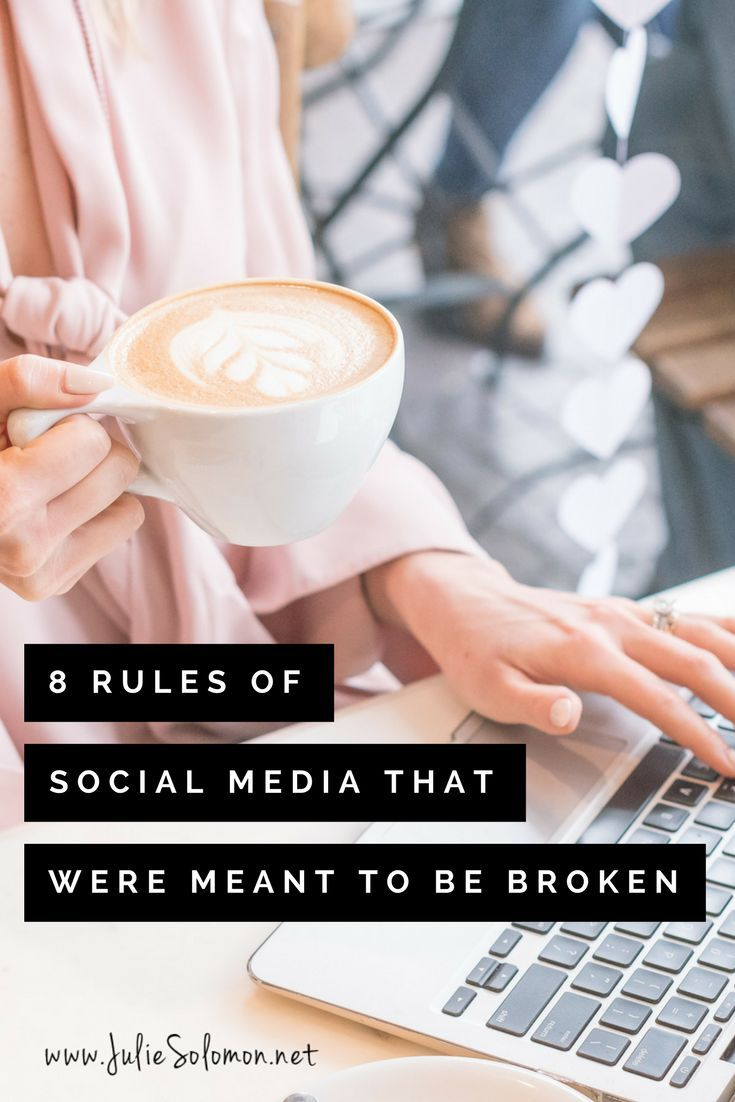 "Because social media changes all the time, the black and white ""rules"" around it often have to be reconsidered and broken.  Be a rebel. Break the rules. By Julie Solomon. Brand & Blogger Consultant."