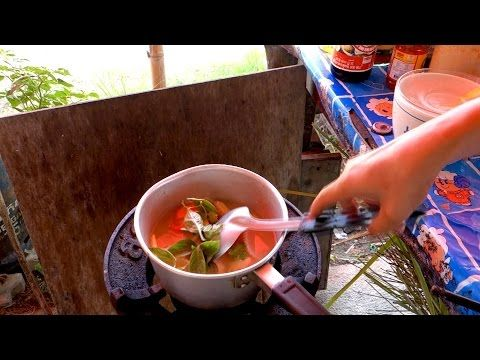 Tom yum gai - Thai sour and spicy soup with chicken - authentic video recipe from a Thai street restaurant in Thailand (source: my personnal food and travel blog / vlog with recipes, authentic video recipes, street food, food and travel documentary, travel info and more. Welcome! :) )