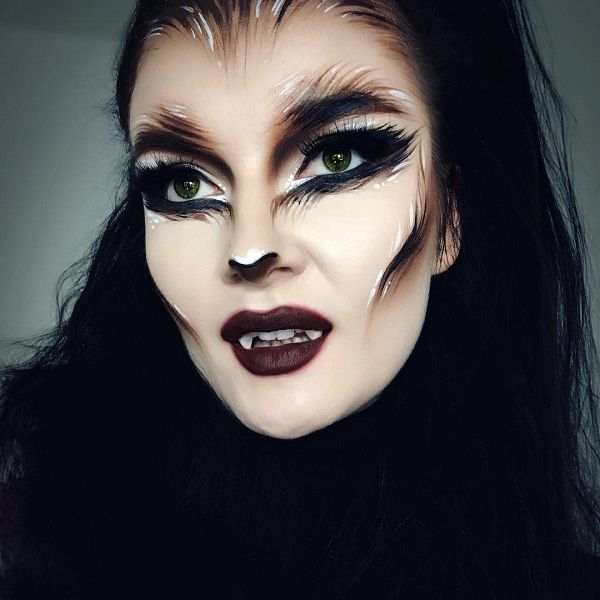 Wolf Inspired Halloween Makeup Hairstyle Ideas For Black Women Wolf Makeup Halloween Makeup Werewolf Makeup