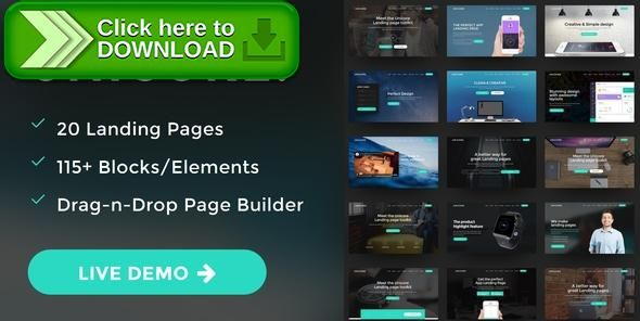[ThemeForest]Free nulled download Unicore - Mobirise Builder with 20 HTML Bootstrap Landing Page Templates from http://zippyfile.download/f.php?id=34248 Tags: agency, bootstrap, bootstrap landing page, html template, html5, landing, landing page, landing page builder, landing page examples, landing page templates, mobirise template, responsive, responsive bootstrap template, template, website builder