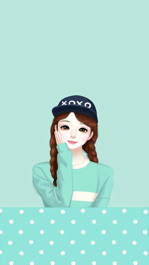 Wallpaper Cute Korean Girl Cartoon Enakei Girl And Lovely Image Korean Anime Cute