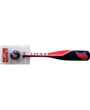 Jarden Sports Cleveland Indians Grand Slam Softee Baseball Bat and Ball Set - Team color