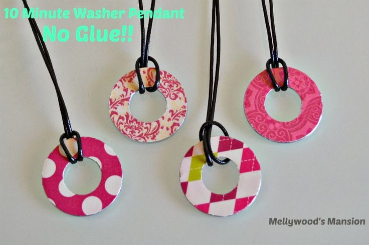: No Glue Washer Pendants - 10 Minutes And You're Done!!