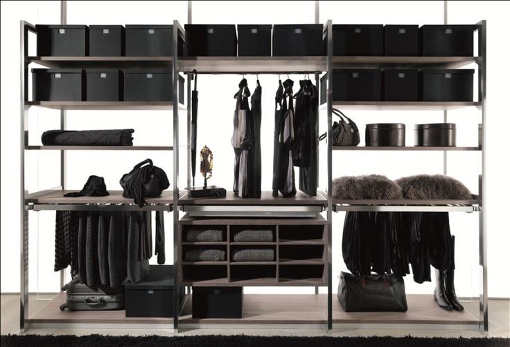 Sistema de almacenaje en baldas para interior de vestidor de gunni trentino armarios y - Baldas para armarios ...