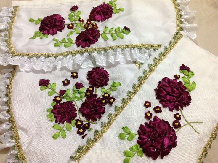 Juegos De Baño Hechos En Crochet:about Juego De Baño Completo on Pinterest
