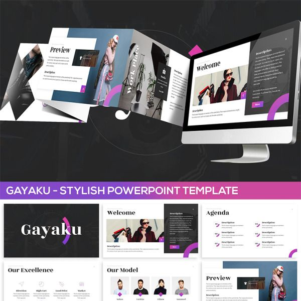 Gayaku - Stylish PowerPoint Template #82023