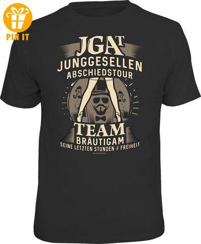 JGA - Team Bräutigam - T-Shirt - Größe L - T-Shirts mit Spruch | Lustige und coole T-Shirts | Funny T-Shirts (*Partner-Link)