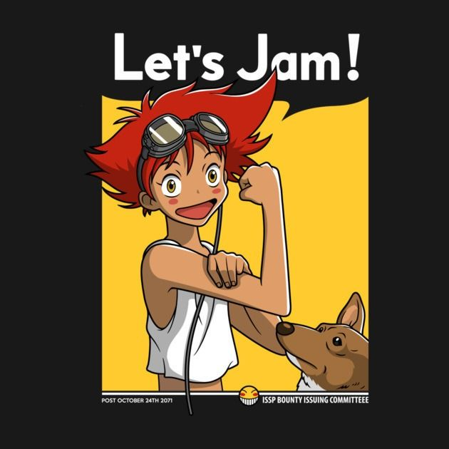 Jamming with Edward T-Shirt - Cowboy Bebop T-Shirt is $12.99 today at Pop Up Tee!