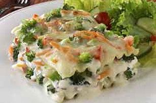 Vegetable Lasagna in Parmesan Cream Sauce recipe