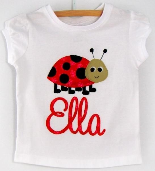 Ladybird personalised tshirt