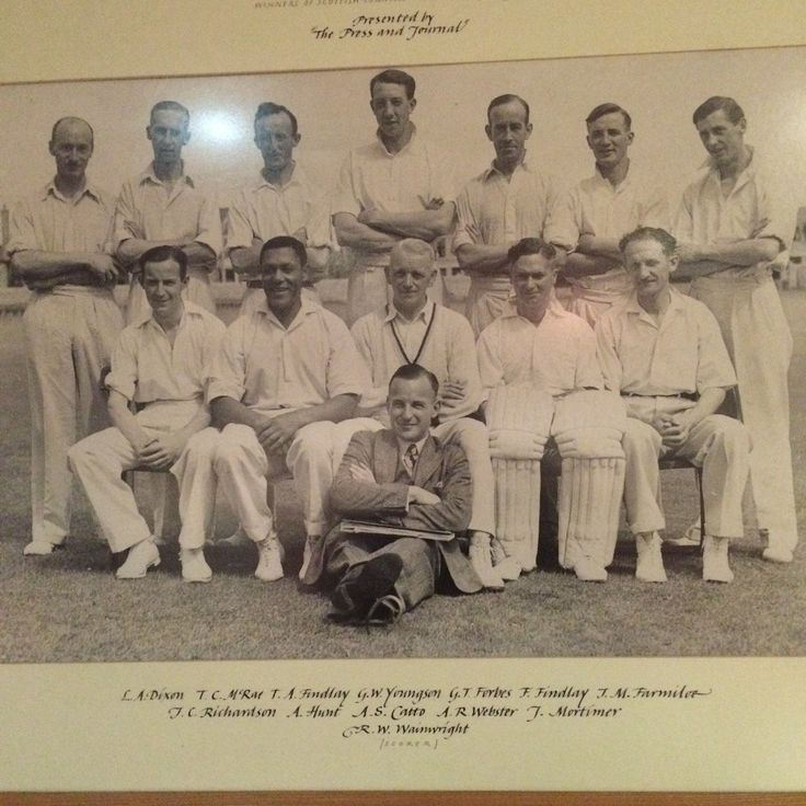 """Neil Drysdale on Twitter: """"Alma Hunt, one of the great cricketers of his age, is in this Aberdeenshire pic. Rohan Kanhai also starred for club. https://t.co/yxJaeM4TvD"""""""
