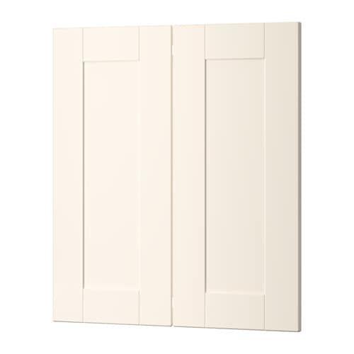 Best Ikea Grimslov Off White 2 P Door Corner Base Cabinet Set 400 x 300
