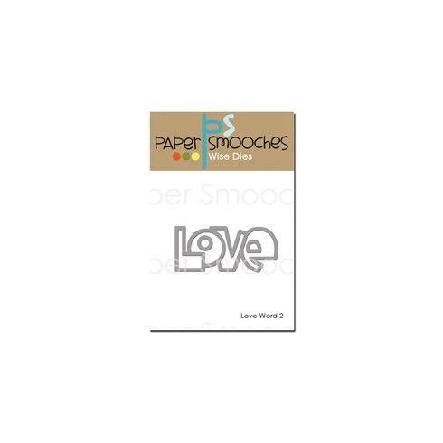 Paper smooches - die love word 2