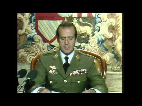 Mensaje completo de S.M. el Rey a los españoles en la noche del 23 al 24 de febrero de 1981. Copyright: Casa Real (www.casareal.es). Este vídeo ha sido subido únicamente con propósitos educativos; no con intención de violar ninguna ley sobre copyright y/o derechos de autor.