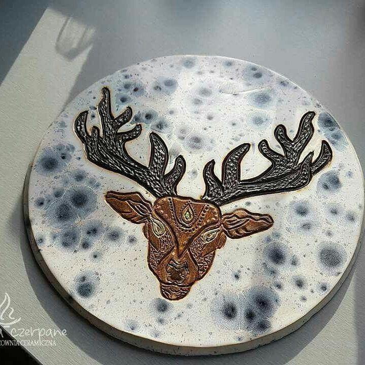 "Dekor  ""Mandala Deer""  by Z ognia czerpane"