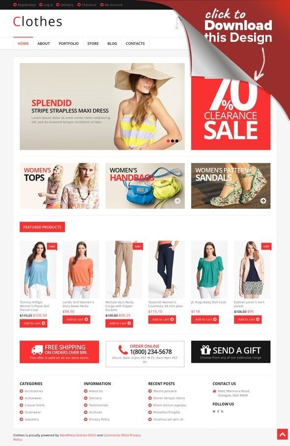 Clothes Design Website | Responsive Clothes Store Woocommerce Theme Best Website Templates