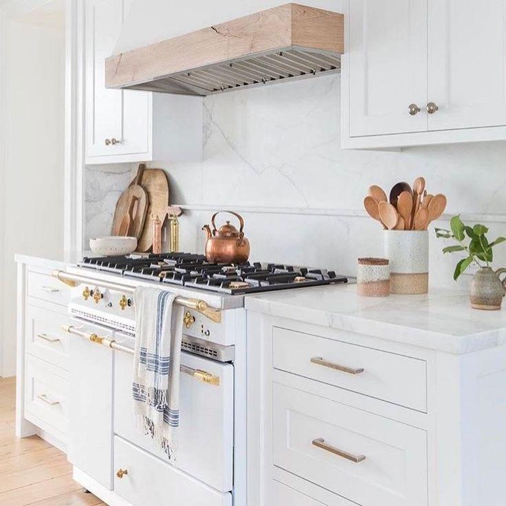 White Kitchen Copper Accents