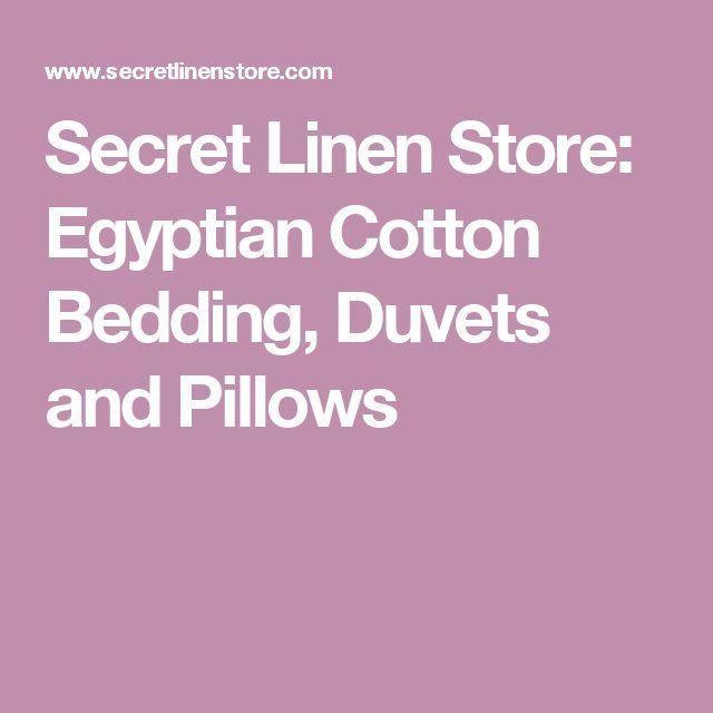Secret Linen Store: Egyptian Cotton Bedding, Duvets and Pillows