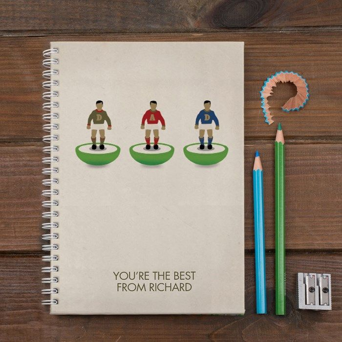 Personalised Notebook - Table Top Football | GettingPersonal.co.uk