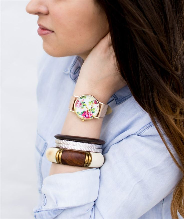 Floral Boyfriend Watches| Perfect Teacher Gift