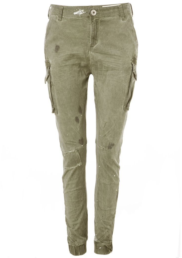 Circle of Trust Khaki Skinny Cargo Pants for Women - Circle Of Trust Official Webshop