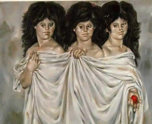 """""""Las Tres Gracias"""" Enrique Grau. 1963"""