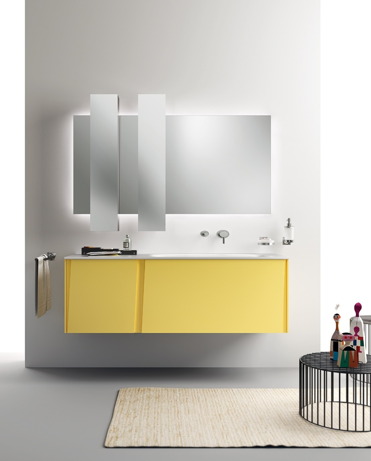 Lagu Collection by Scavolini | #Design & #Colours | Sun Yellow Bathrooms |