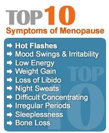 Resultado de imagem para menopause symptoms