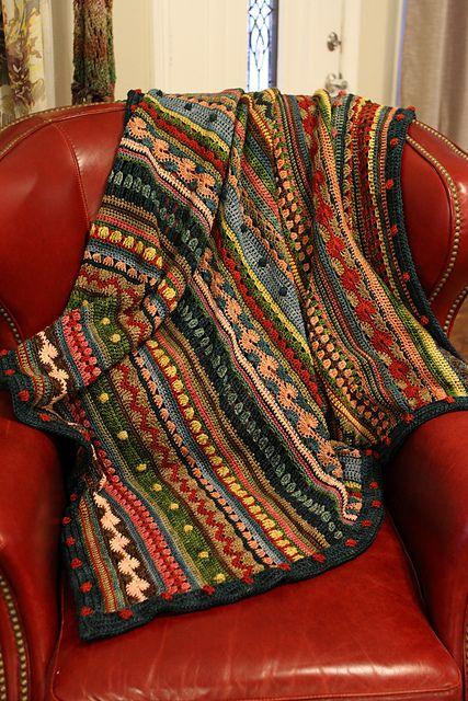 Ravelry: tannastanley's Mixed Stitch Stripey Blanket: Bohemian Rhapsody