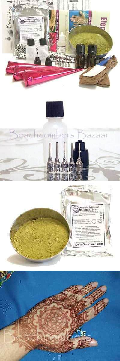 Temporary Tattoos: Big Bad Beginners Henna Tattoo Starter Kit Powder Paste Applicators Cones Book -> BUY IT NOW ONLY: $66.44 on eBay!