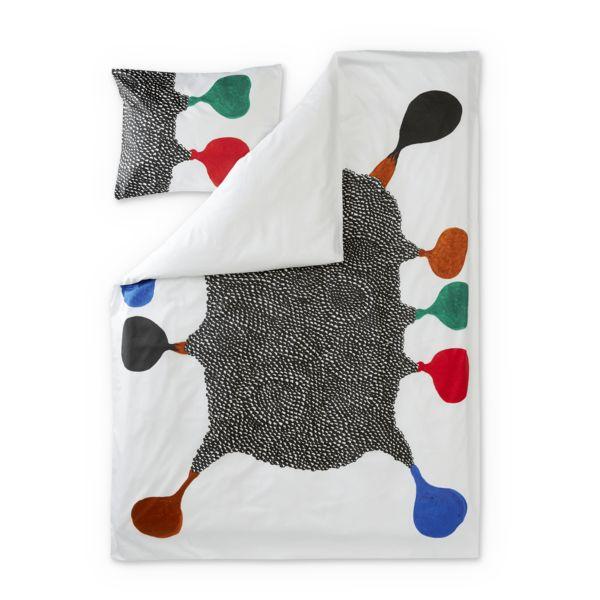 Emo satin påslakanaset med örngott - Multi - Sängkläder – Finlayson