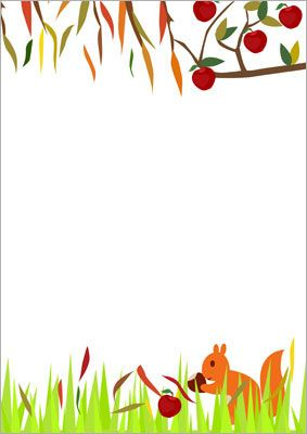 Here Is Some Fall Themed Notepaper That Could Be Used To Make Mats For  Station  Microsoft Word Page Border Templates