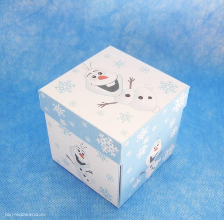 Olaf Frozen thee bonbon doosje, leuk als traktatie voor de juf of meester!