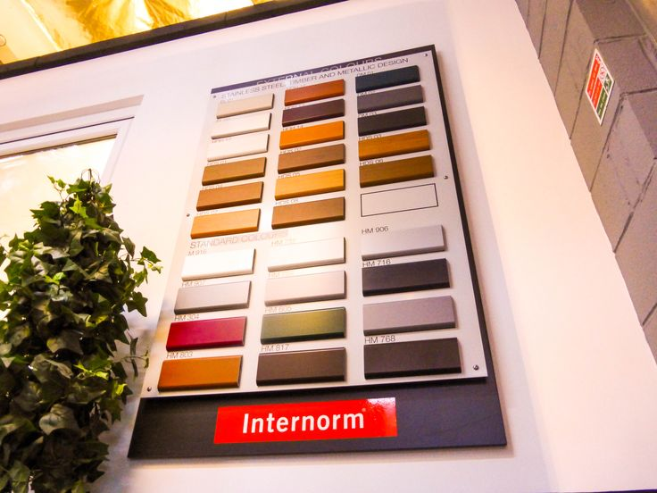 We now have all of the standard Internorm Internal colours on display, as well as the options shown, if using timber you can have any colour your heart desires.