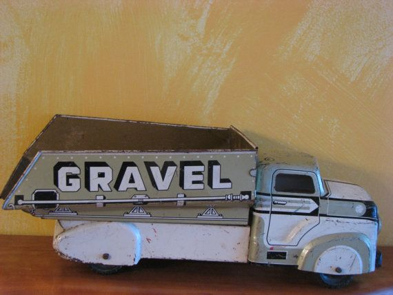 Hey, I found this really awesome Etsy listing at https://www.etsy.com/listing/225611339/marx-1950s-sand-and-gravel-dump-truck
