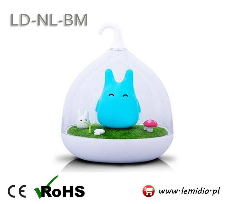 Lampka nocna dziecięca LED - niebieski Królik
