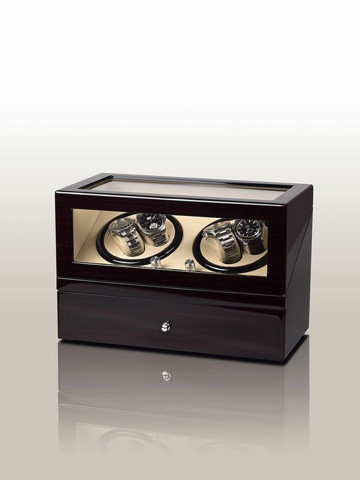 Rothenschild Uhrenbeweger Milano RS-2023-EBONY fuer 4 + 6 Uhren