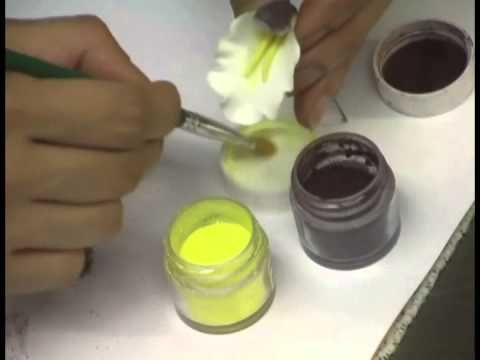 Making a Gumpaste Cymbidium Orchid by Petal Crafts - YouTube