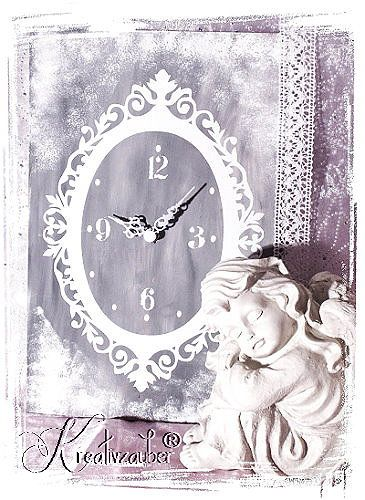 ★ Vintage-Engel-Uhr selbst gestalten ★ www.kreativ-zauber.de ★