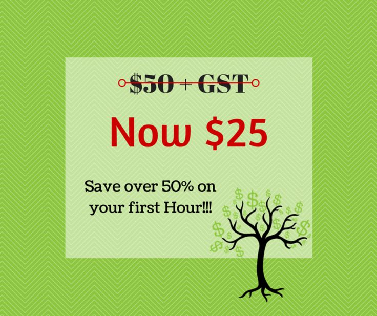 As an exclusive with The Hive you can get your first hour's work for over Half Price (usually $50+GST per Hour).
