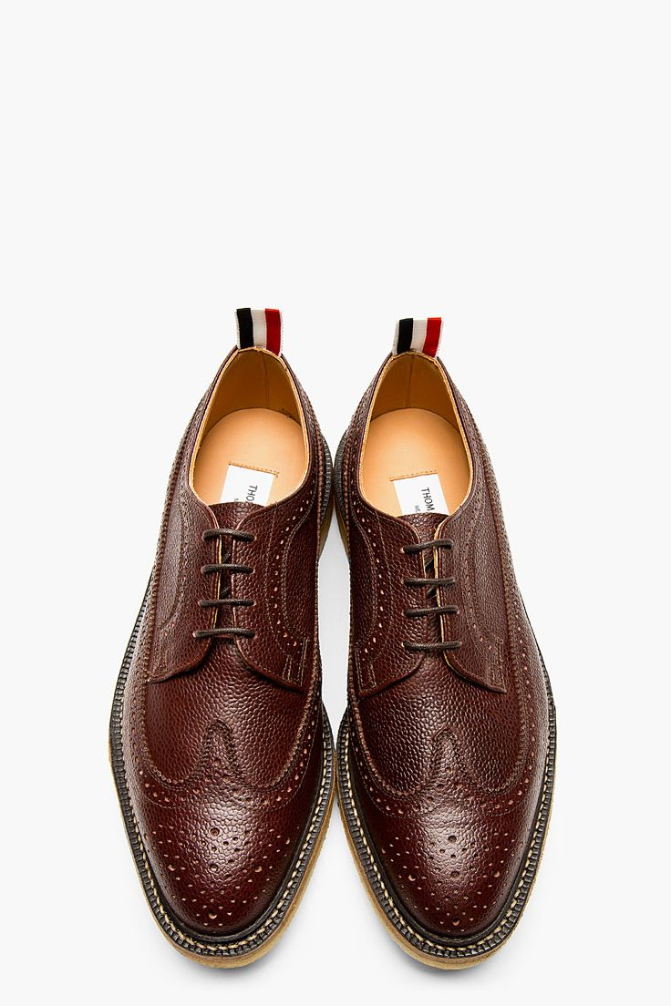 THOM BROWNE Maroon Leather Longwing Brogues. These will last several lifetimes if properly care for. True story.