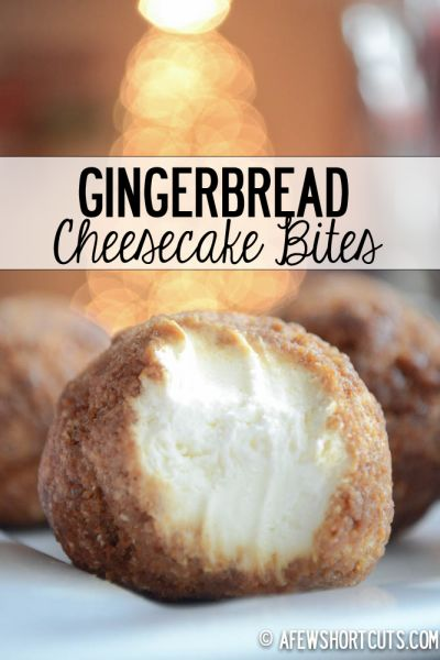 The perfect holdiay freezer dessert. This Gingerbread Cheesecake Bites Recipe is just DELIGHTFUL and so easy to make!