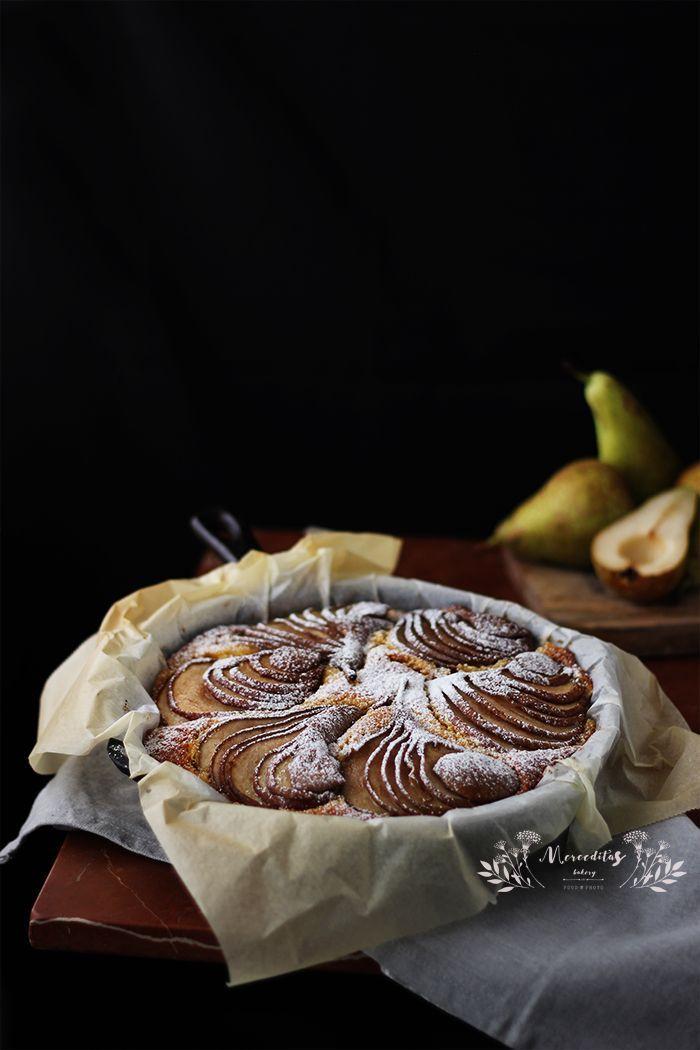 Merceditas Bakery: Pastel de pera, almendra y polenta sin gluten #glutenfree