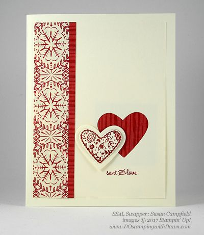 Valentine Swap card shared by Dawn Olchefske #dostamping (Susan Campfield)