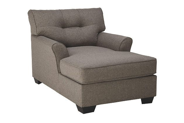Gray Tibbee Chaise by Ashley HomeStore, Polyester (100 %)