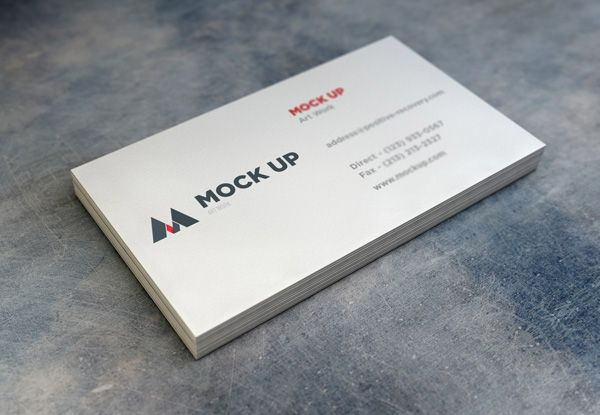 GMF: Free download Realistic Business Card MockUp