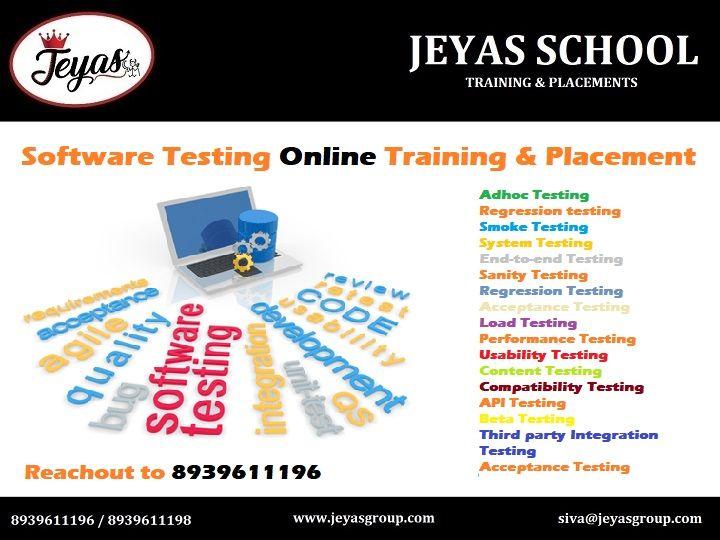Software Testing Online Training Placement Softwaretesting