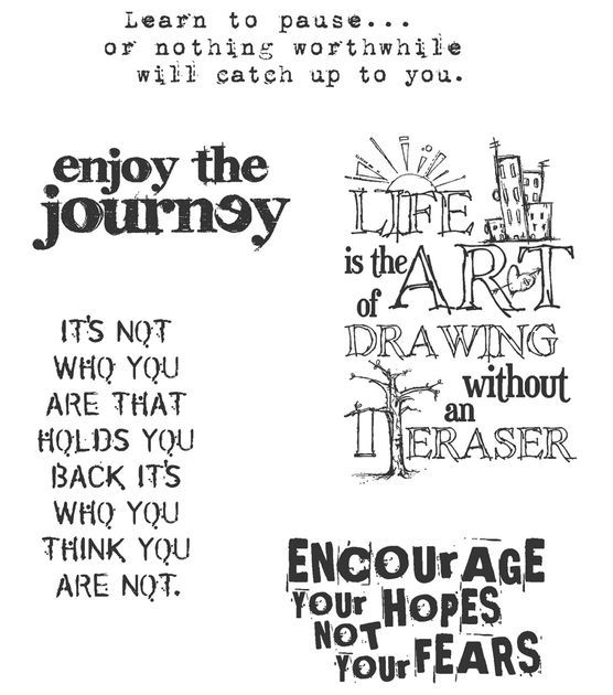 Tim Holtz Cling Rubber Stamp Set-Just Thoughts at Joann.com