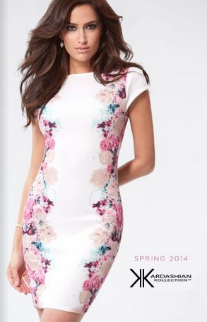 Kardashian Kollection Spring 2014 : The Floral Dress, coming soon at #Sears
