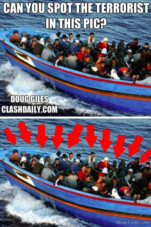 Confirmed terrorist busted in refugee boat, can you spot him?